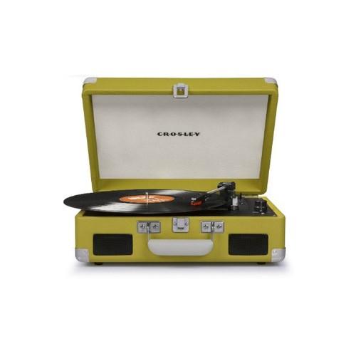 Crosley CR8005C-GR Cruiser II Portable Battery Powered 3-Speed Turntable, Green [Green]
