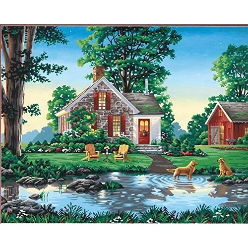 Dimensions Paint By Number Kit, Summer Cottage, 16-Inch-by-20-Inch