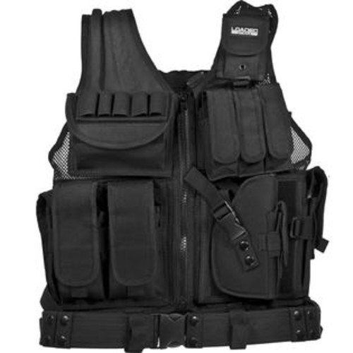 Barska Loaded Gear VX-200 Tactical Right Hand Vest - Black per EA