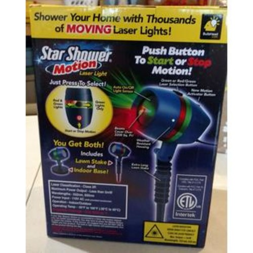 Star Shower Motion 10639-6 Christmas Laser Light Projector, As Seen On TV
