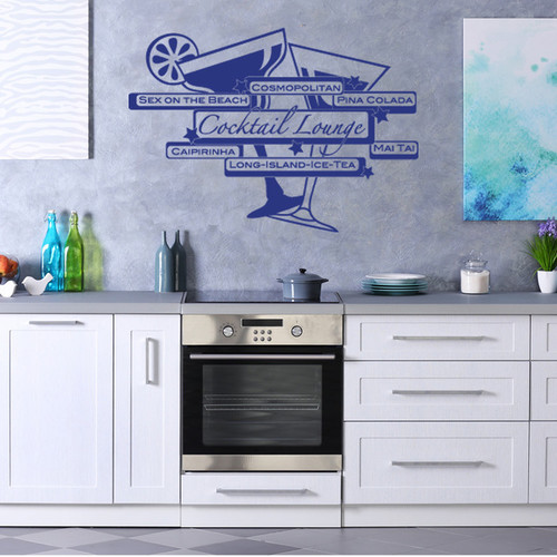 Cocktail Lounge Vinyl Wall Art Decal