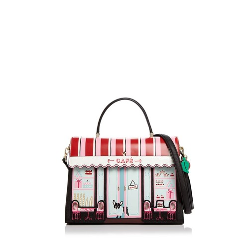 KATE SPADE NEW YORK Ma Chérie Café Leather Satchel