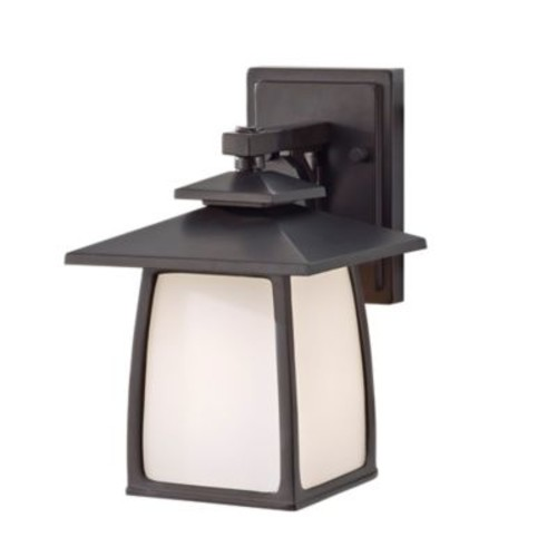 Feiss Wall-Mount Outdoor Lantern in Oil-Rubbed Bronze with Glass Shade