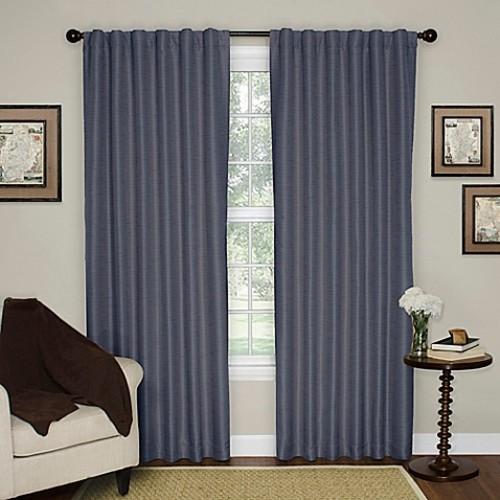 Solar Shield Austin 95-Inch Rod Pocket Room Darkening Window Curtain Panel in Sapphire