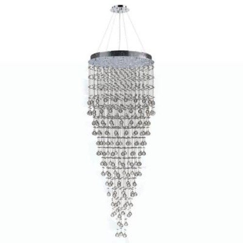 Worldwide Lighting Icicle Collection 16-Light Chrome and Crystal Chandelier
