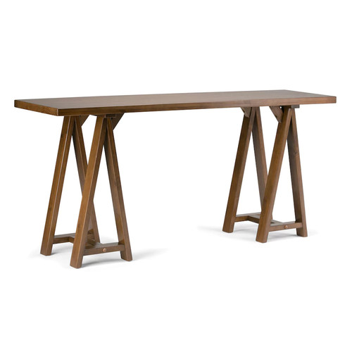 Simpli Home Sawhorse Large Console Table
