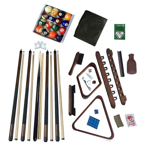 Hathaway Deluxe Billiards Accessory Kit with Walnut Finish