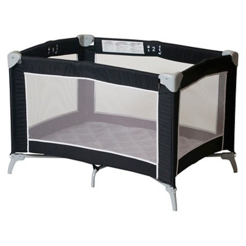 Foundations Sleep n Store Portable Playard - Graphite