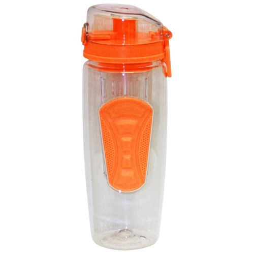 Green Canteen 32 oz. Orange Plastic Tritan Hydration Bottle with Infuser (6-Pack)