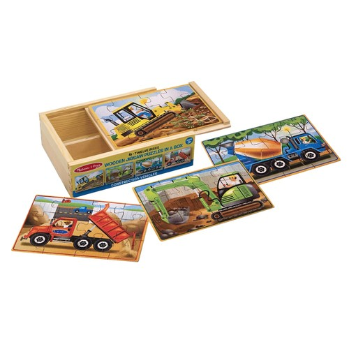 Melissa & Doug Construction Jigsaw Puzzles Box Set