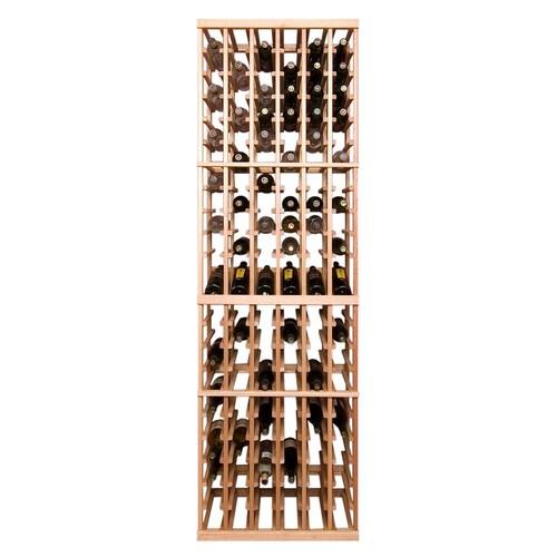 Vinotemp 126-Bottle Pine Floor Wine Rack
