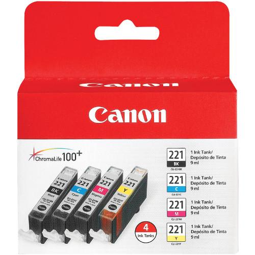 Canon CLI-221 ChromaLife 100+ Black/Color Value Pack (2946B004)