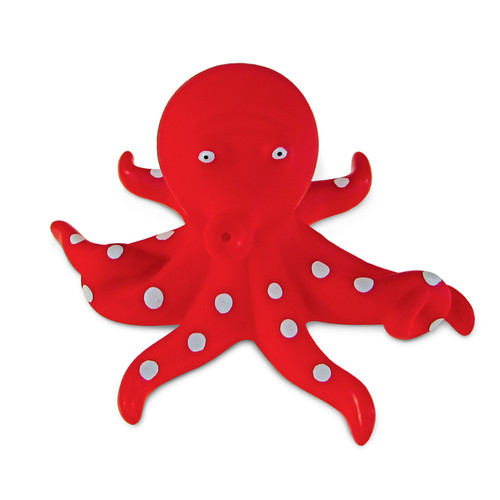Puzzled Red Octopus Squirter Toy