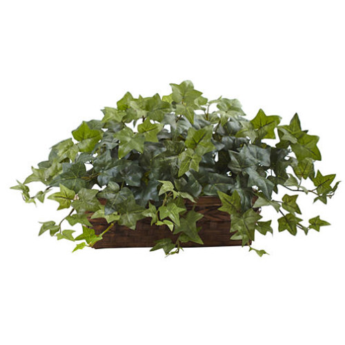 Nearly Natural Artificial Plants Puff Ivy w/Ledge Basket