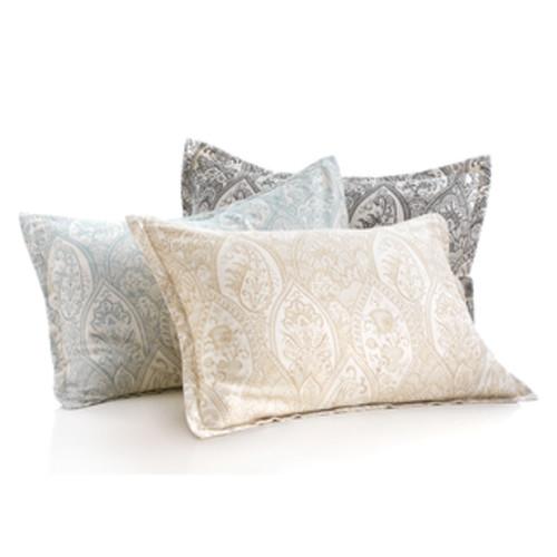 Sweet Jojo Designs Trellis Grey/ White Lattice Print Pillow Sham