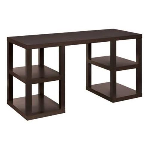Altra Furniture Deluxe Parsons Desk, Espresso Finish