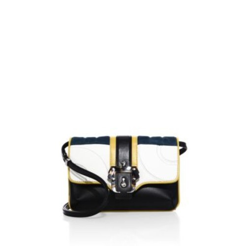 PAULA CADEMARTORI Petite Sylvie Leather & Suede Shoulder Bag