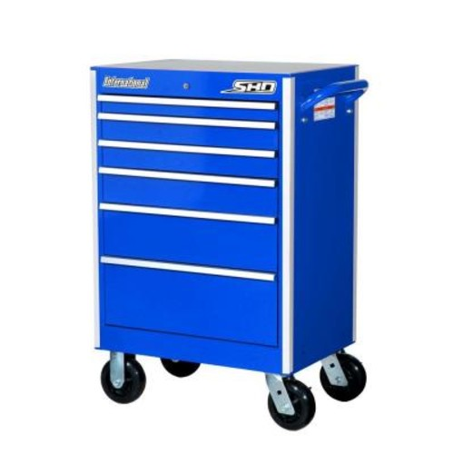 International 27 in. SHD Series 6-Drawer Cabinet, Blue