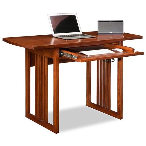 Leick Furniture Leick 82420 Mission Oak Drop Leaf ComputerWriting Desk
