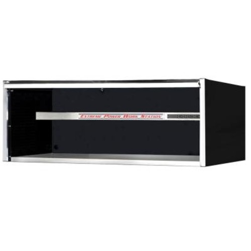 Extreme Tools 72 in. Power Workstation Professional Hutch with Stainless Steel Shelf and Work Surface, Black