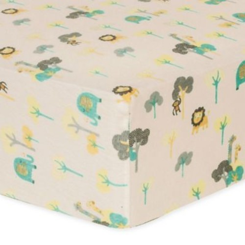 Trend Lab Lullaby Jungle Flannel Fitted Crib Sheet
