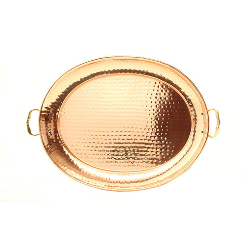 Dutch Copper Tray with Cast Brass Handle