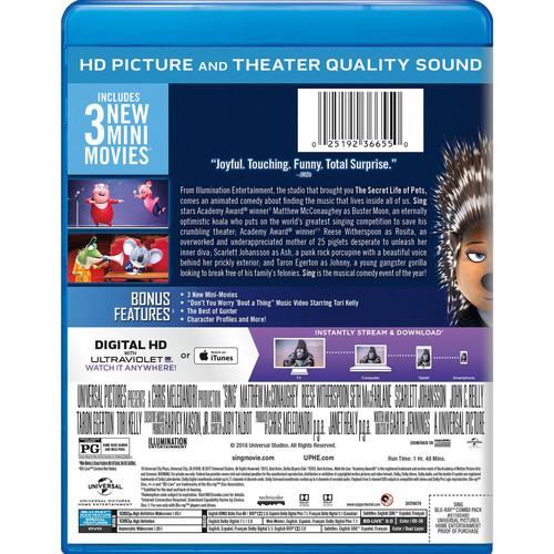 Sing (Blu-ray / DVD / Digital HD)