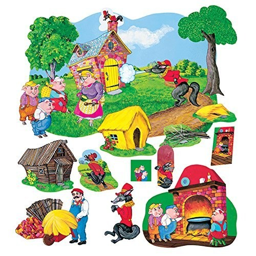 Little Folks Visuals LFV22013 the Three Pigs Deluxe Flannel Boards [1]