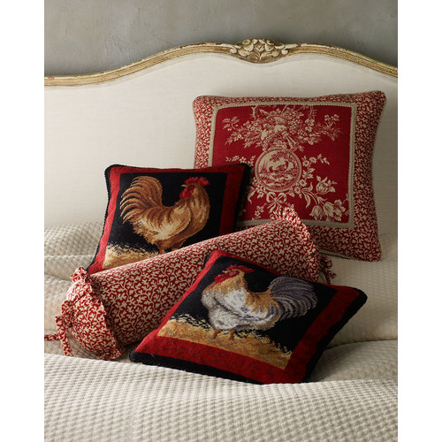 French Country Neckroll Pillow, 18 x 6