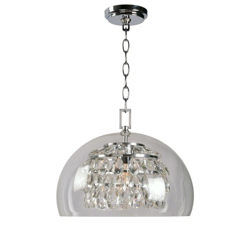 kenroy home Roxy 1-Light Chrome Pendant