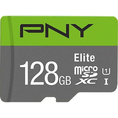 PNY Elite microSDXC Memory Card (128GB) Class 10, UHS Speed Class 1