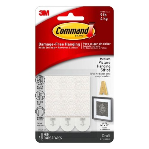 Command Strips 3ct - Medium Picture Hanging Strips
