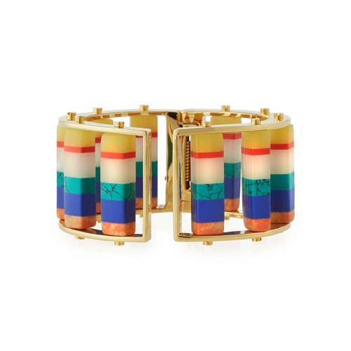 Striped Hinge Slider Cuff Bracelet