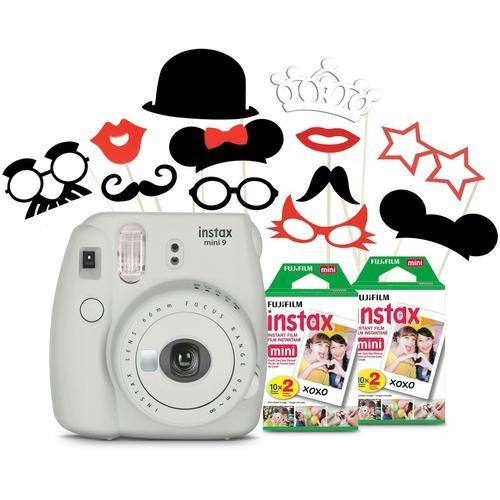 Fujifilm - instax mini 9 Instant Film Camera Say Cheese Bundle - White