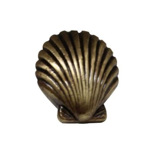 Whitehaus Collection 1-3/8 in. Antique Brass Seashell Cabinet Knob