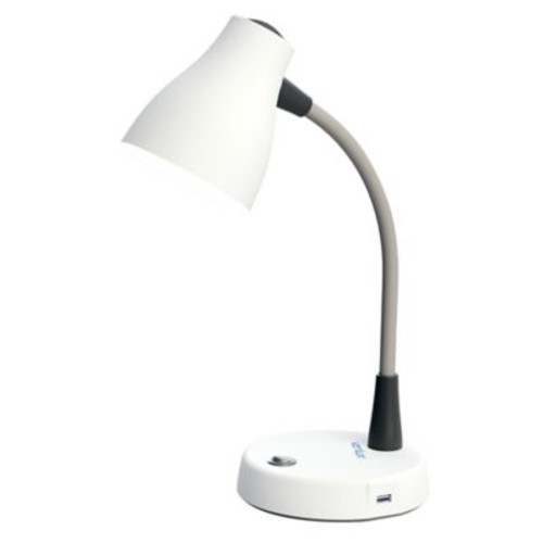 Verilux Natural Spectrum Desk Lamp in White with CFL Bulb