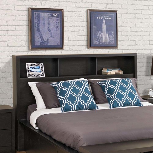 Prepac District Double/Queen Headboard, Washed Black