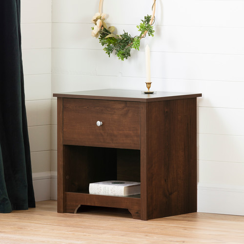 South Shore Vito Collection Night Stand, Sumptuous Cherry [Sumptuous Cherry]