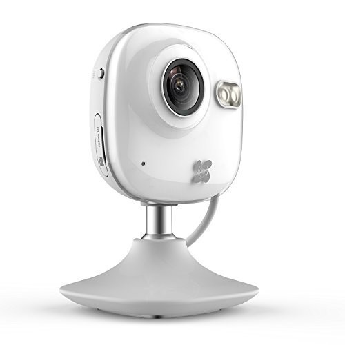 EZVIZ Mini HD 720p WiFi Home Security Camera with Motion Detection, 130 View, Night Vision, Works with Alexa using IFTTT, WiFi Band 2.4Ghz [HD Mini Camera]