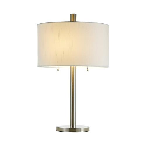 Adesso 4066-22 Boulevard Satin Steel Table Lamp