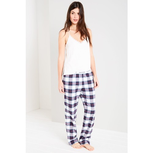 CASSIE CHECKED LOUNGE PANTS