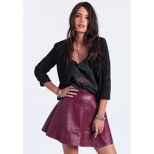 Te Amo Faux Leather Skirt