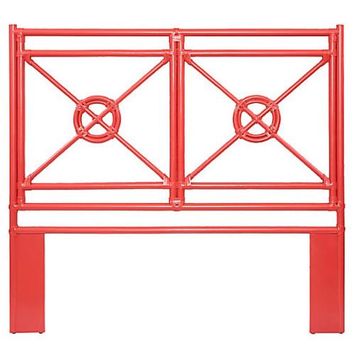 Naji Rattan Headboard, Red