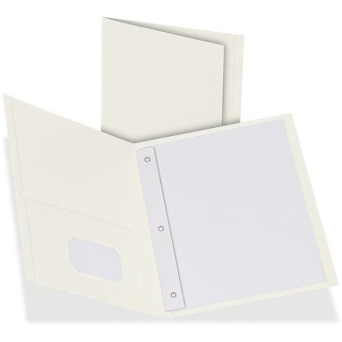 Oxford Twin Pocket 3-hole Fastener Folders - Letter - 8 1/2