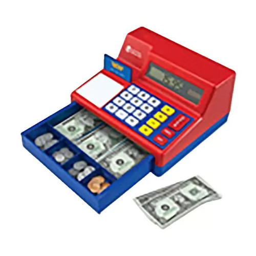 Learning Resources Pretend and Play Calculator Cash Register, Set of 73