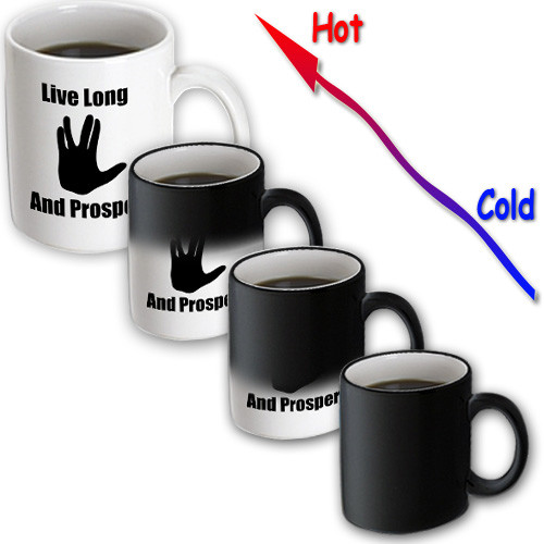 3dRose - EvaDane - Movie Quotes - Live long and prosper. Star Trek. Starship Enterprise. Spock. - 11 oz Transforming mug