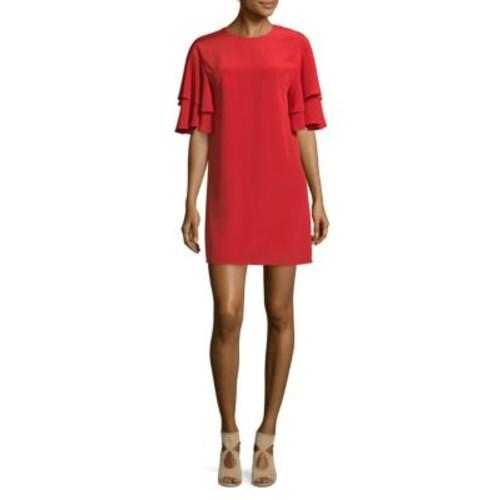 Tibi - Self-Tie Silk Shift Dress