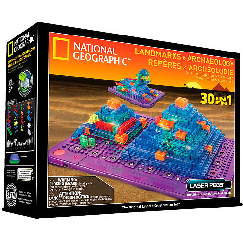 Laser Pegs National Geographic Landmarks & Archaeology Building Kit