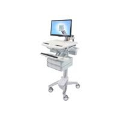 Ergotron StyleView - Cart with LCD Arm, 6 Drawers - Cart for LCD display / keyboard / mouse / bar code scanner / CPU