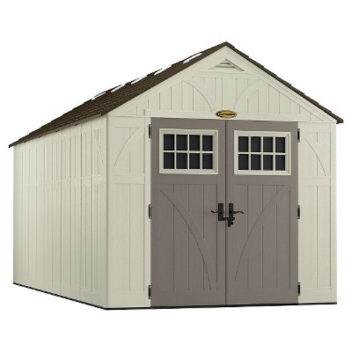 Suncast Tremont 16 ft. 3-1/4 in. x 8 ft. 4-1/2 in. Resin Storage Shed